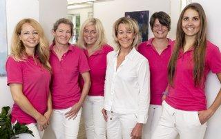 Das Team der Kieferorthopädiepraxis Sabine Seifert